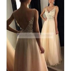 New V-Neck Prom Dresses...